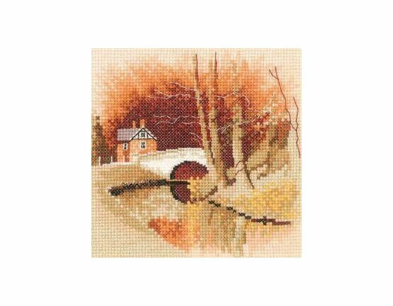 By The Canal Cross Stitch Miniature Kit