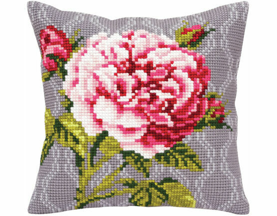 Tender Rose 1 Cross Stitch Cushion Panel Kit