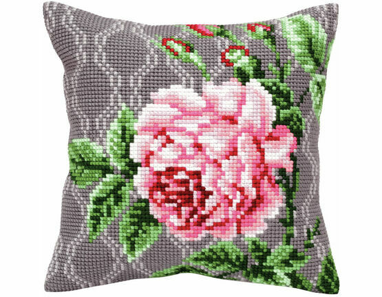 Tender Rose 2 Cross Stitch Cushion Panel Kit