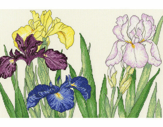 Iris Blooms Cross Stitch Kit