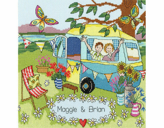 Our Caravan Cross Stitch Kit
