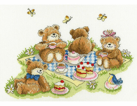 Teddy Bears\' Picnic Cross Stitch Kit