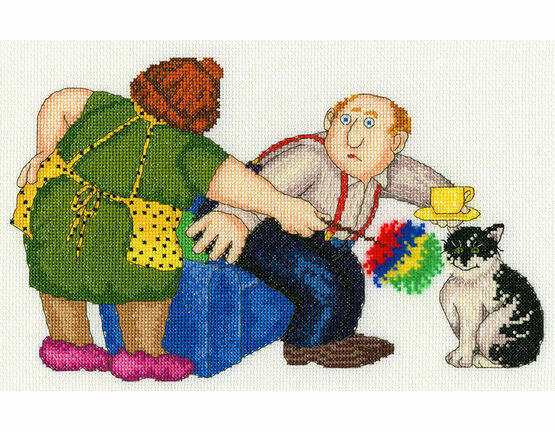 Beryl Cook That\'s The Cat\'s Chair Cross Stitch Kit