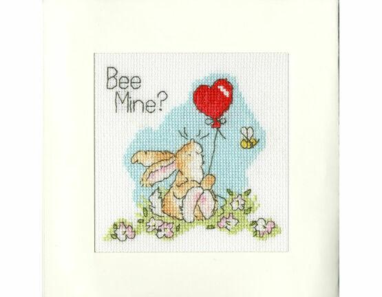 Bee Mine? Cross Stitch Card Kit