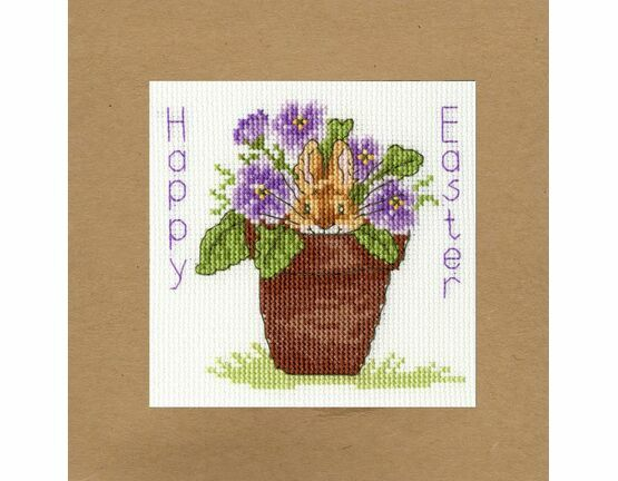Easter Bunny Cross Stitch Card Kit