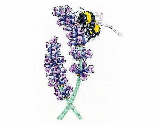 Lavender Bee Cross Stitch Kit