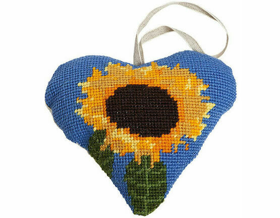 Sunflower Lavender Heart Tapestry Kit