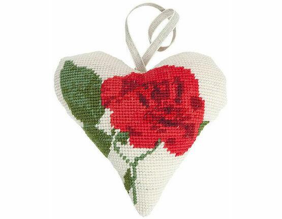 Rose Lavender Heart Tapestry Kit