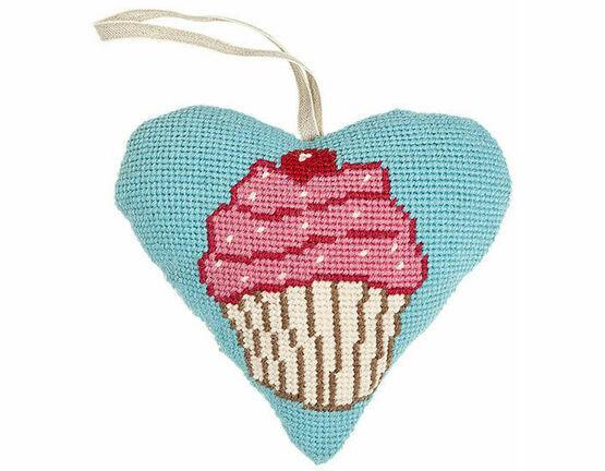 Cupcake Lavender Heart Tapestry Kit