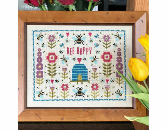 Bee Happy Cross Stitch Kit