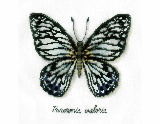 Blue Butterfly Cross Stitch Kit