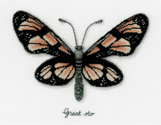 Orange Butterfly Cross Stitch Kit