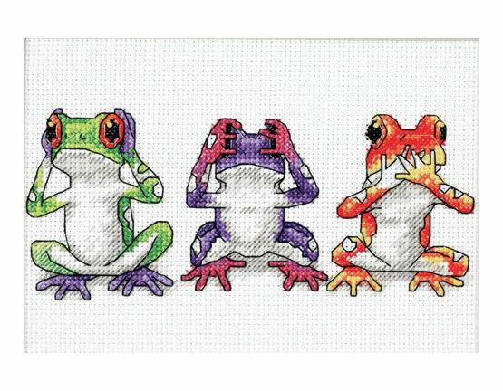 Treefrog Trio Cross Stitch Kit