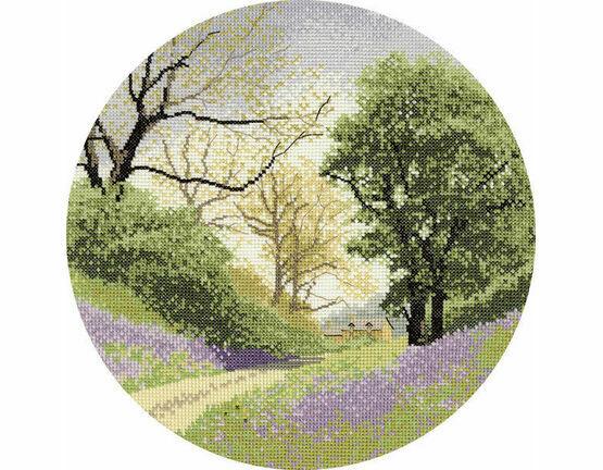 Bluebell Lane (Circles) Cross Stitch Kit