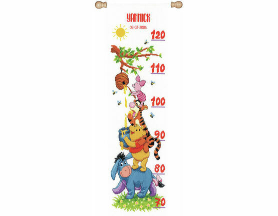 Winnie & Friends Height Chart Cross Stitch Kit