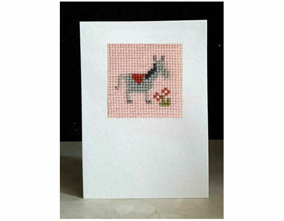 Delilah The Donkey Mini Beadwork Embroidery Card Kit