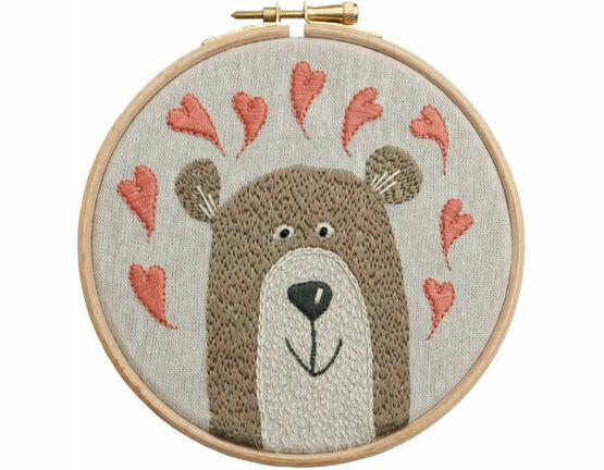 Bear Hoop Embroidery Kit