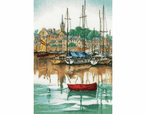 Sunrise At Yacht Harbour Cross Stitch Kit