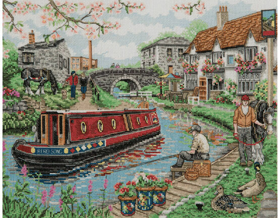 Country Canal Cross Stitch Kit