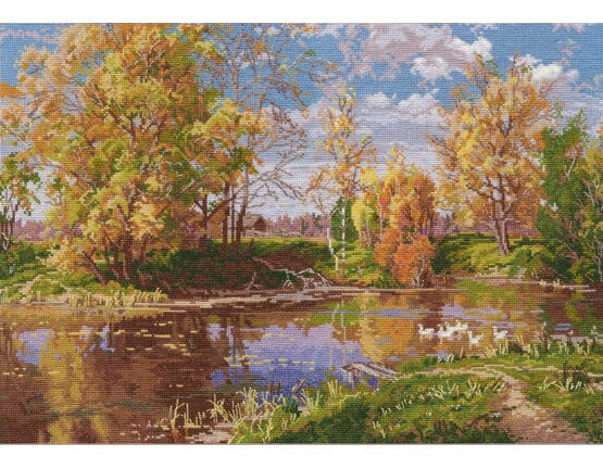 Autumn Pond Cross Stitch Kit