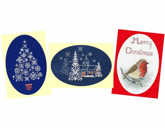Snow Cross Stitch Card Kits (Derwentwater Designs Set 2)