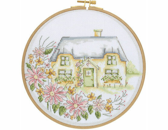 Country Retreat Cross Stitch Hoop Kit
