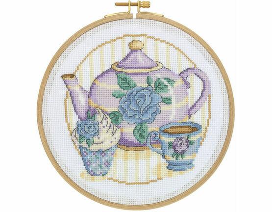Afternoon Tea Cross Stitch Hoop Kit