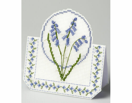 Bluebells 3D Cross Stitch Card Kit