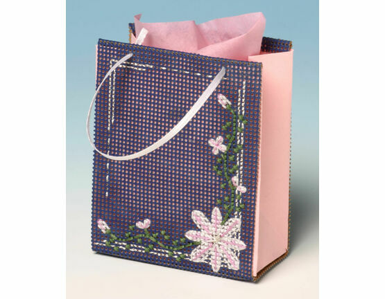 Clematis Gift Bag 3D Cross Stitch Kit