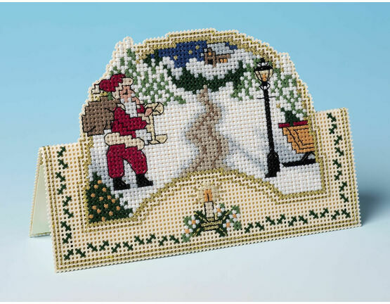 This Way Santa 3D Cross Stitch Christmas Card Kit