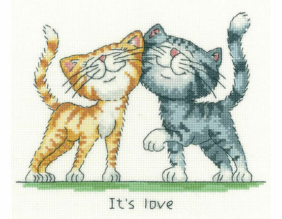 It\'s Love Cross Stitch Kit