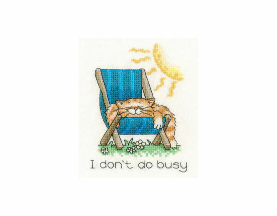 I Don\'t Do Busy Cross Stitch Kit