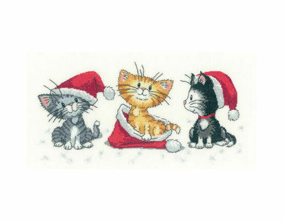 Christmas Kittens (Cats Rule!) Cross Stitch Kit