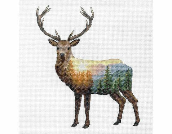 Deer Scene Cross Stitch Kit