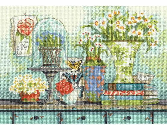 Garden Collectibles Cross Stitch Kit