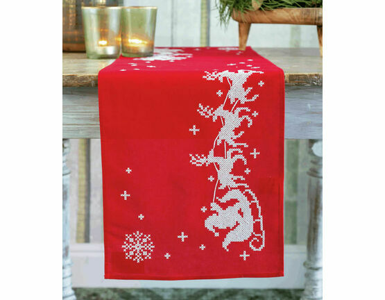 Sleigh Table Runner Embroidery Kit