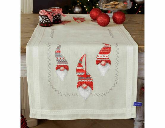 Christmas Elves Embroidery Table Runner Kit