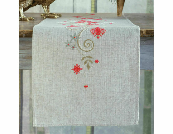 Christmas Motif Embroidery Table Runner Kit