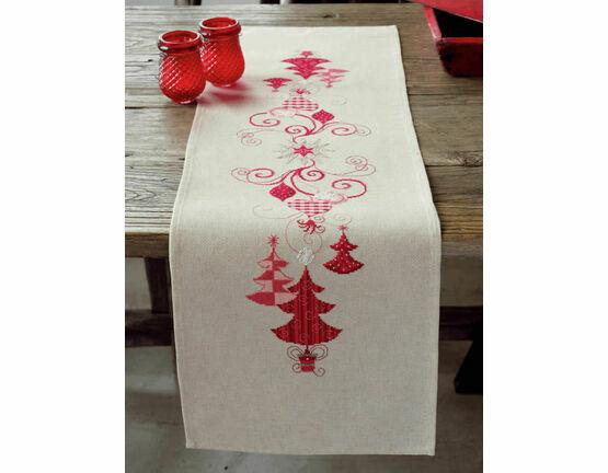 Christmas Decs Embroidery Table Runner Kit