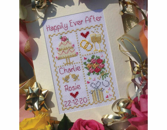 Happily Ever After Cross Stitch Wedding Card Kit