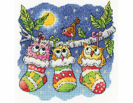 A Christmas Hoot Cross Stitch Kit