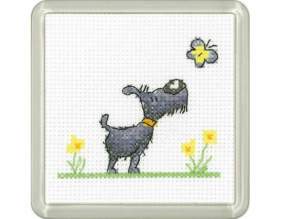 Flutterby Cross Stitch Coaster Kit