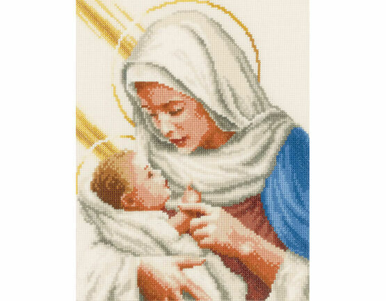 Maria And Jesus Cross Stitch Kit