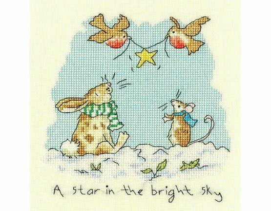 Star In The Bright Sky Cross Stitch Kit