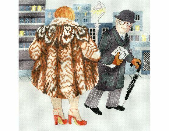 Beryl Cook - My Fur Coat Cross Stitch Kit