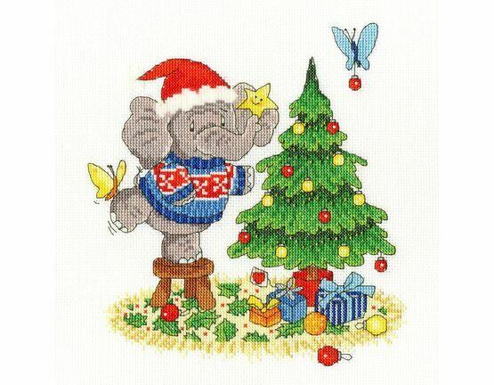 A Merry Elly Christmas Cross Stitch Kit