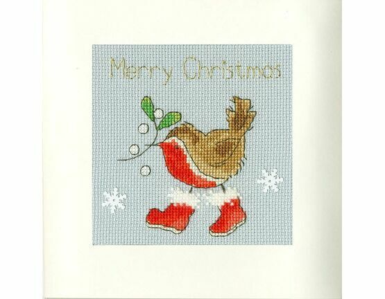 Step Into Christmas Cross Stitch Card Kit