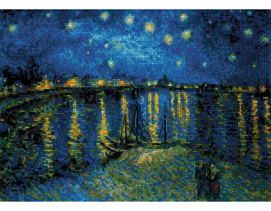Van Gogh - Starry Night Over The Rhone Cross Stitch Kit