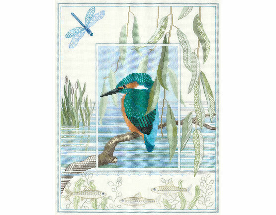 Wildlife - Kingfisher Cross Stitch Kit