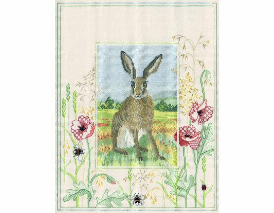 Wildlife - Hare Cross Stitch Kit